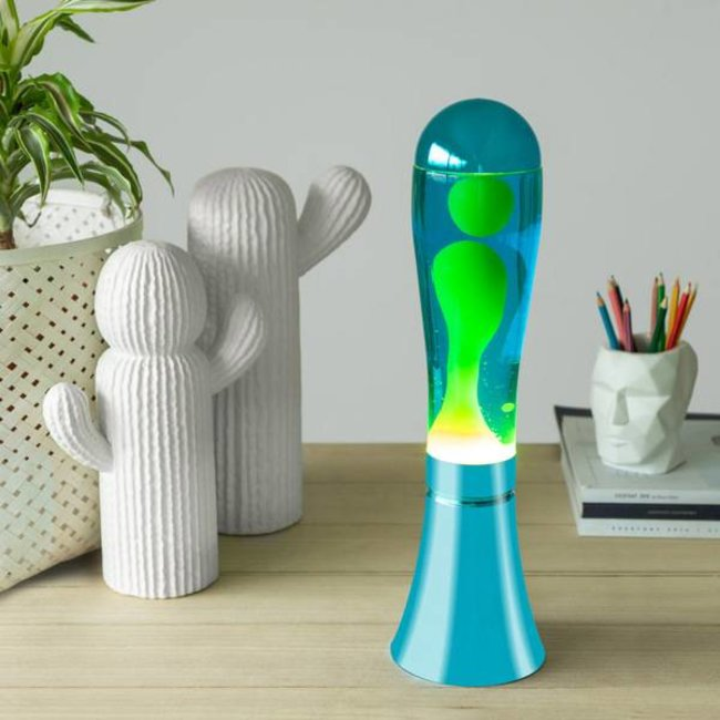 Balvi Lava Lamp  - blue with Green Lava