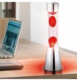 Fisura Lava Lamp (chrome/red)