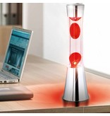 Fisura Lava Lamp (chroom/rood)