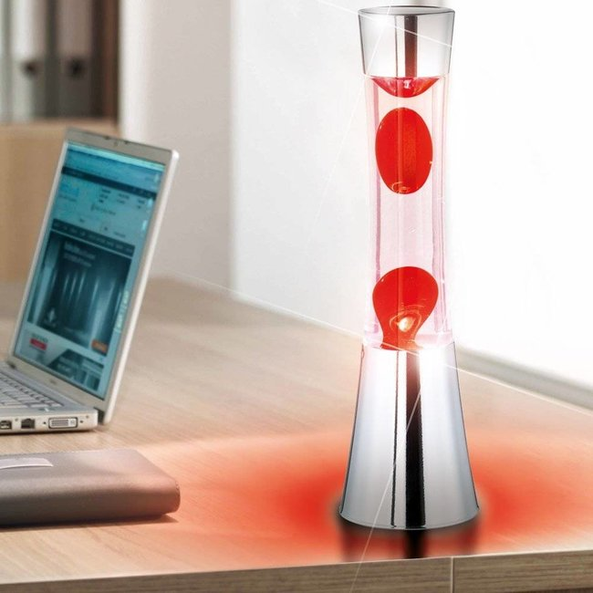 Fisura Lava Lamp (chrome/red)