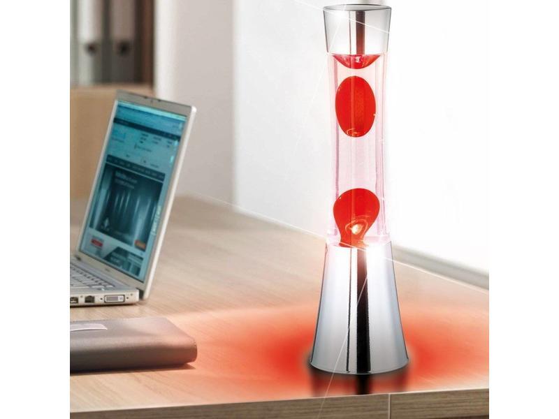 Fisura Lampe à Lave (chromé/rouge)