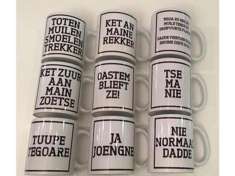 Urban Merch Mug 'Oastemblieft ze!'