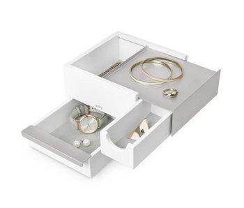 Juwelenbox 'Mini-Stowit' (wit/grijs)