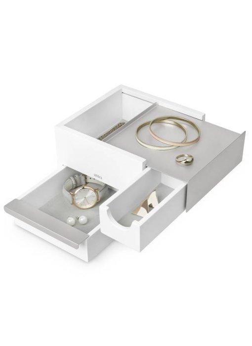 Jewelry Box 'Mini-Stowit' (white/grey)
