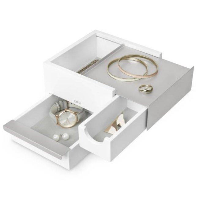 Boîte à Bijoux 'Mini-Stowit' (blanc/gris)