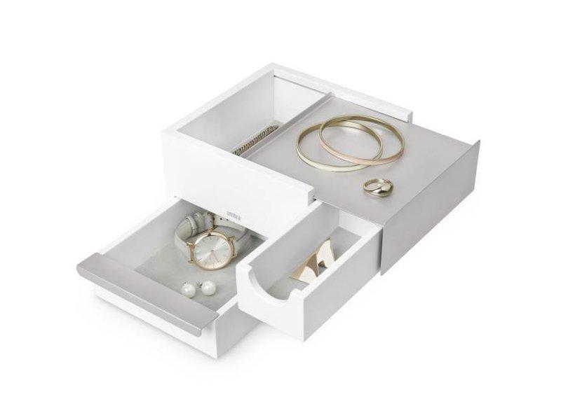 Umbra Juwelenbox 'Mini-Stowit' (wit/grijs)
