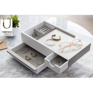 Umbra Jewelry Box 'Stowit' (white/grey)