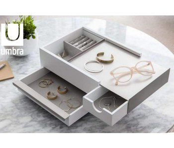Jewelry Box 'Stowit' (white/grey)