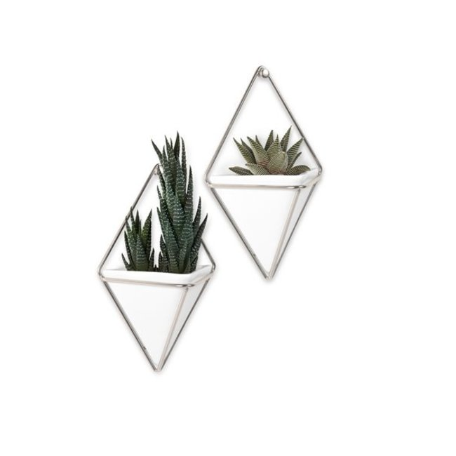 Umbra Wall Vessel Set 'Trigg' (silver)