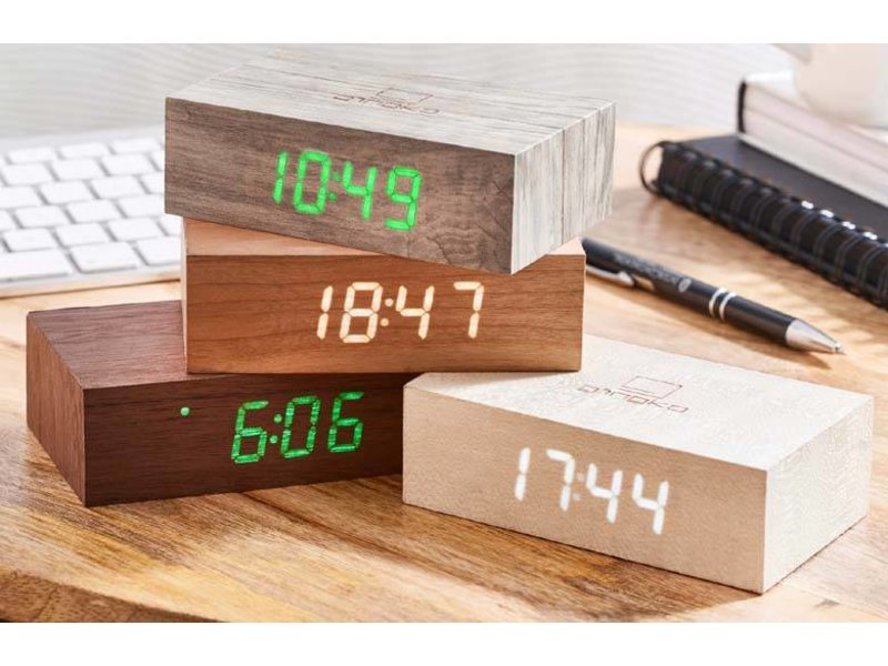 Gingko Flip Click Clock 'White Birch'