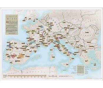 Scratch Map 'European Wines'