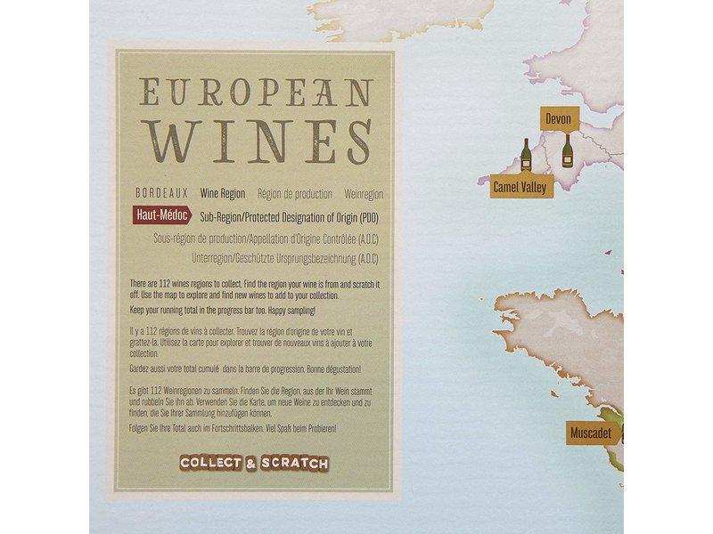 Carte à Gratter 'Vins Européens'