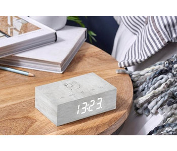 Réveil Flip Click Clock 'Bouleau Blanc'
