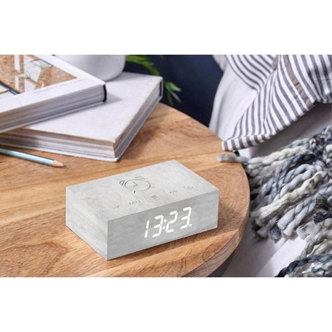 Gingko Flip Click Clock 'Witte Berk'