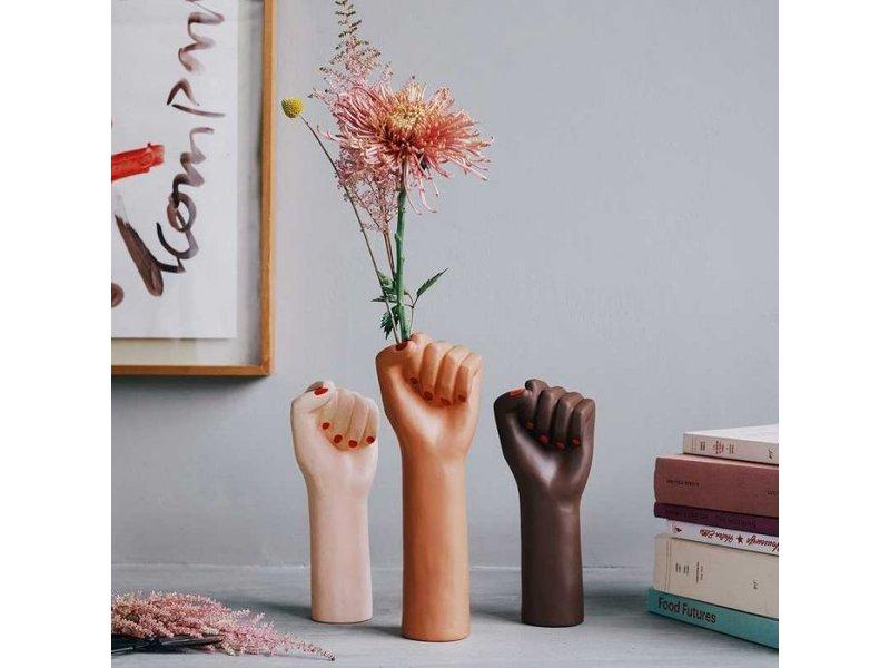 DOIY Vase 'Girl Power' (white, small)