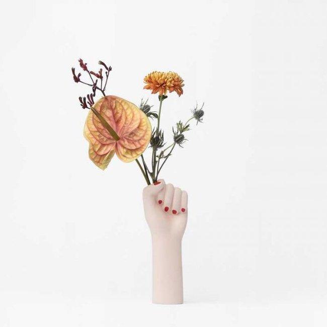DOIY Vase 'Girl Power' (blanc, small)