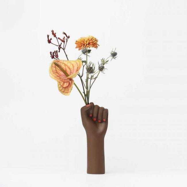 Vase 'Girl Power' (black, small)