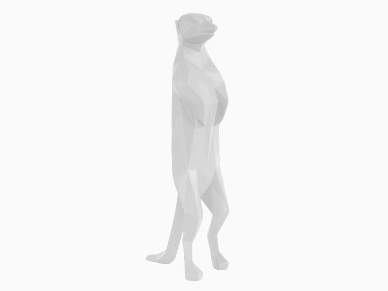 Present Time Origami Statue 'Meerkat'