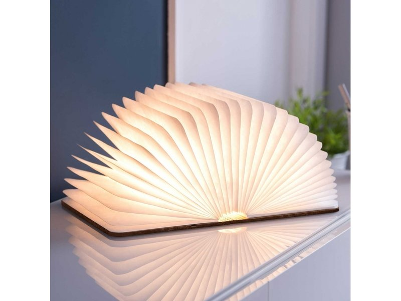 Gingko Smart Book Light 'Brown Leather' (large)