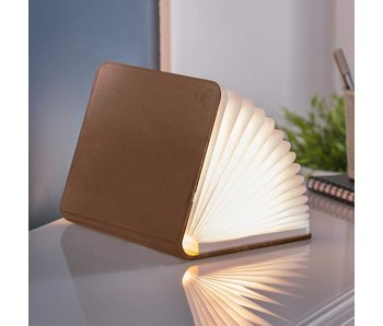 Smart Book Light - bruin leder - large