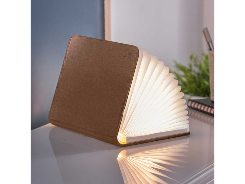 Gingko Smart Book Light 'Cuir Brun' (grand)