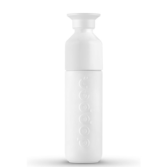 Thermos / Insulated bottle 'Dopper Insulated 350 ml' (wavy white)