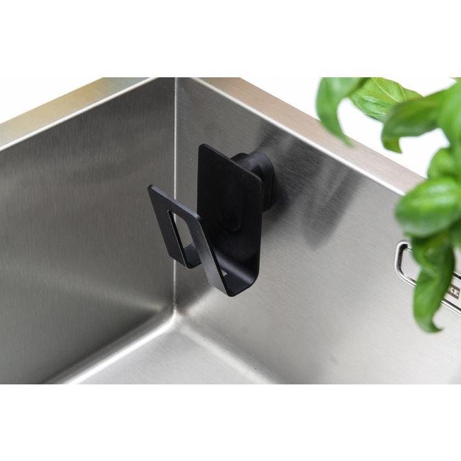 Magisso Porte-éponge magnétique - biocomposite noir