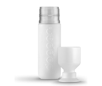 Thermos / Insulated bottle 'Dopper Insulated 580 ml' (wavy white)