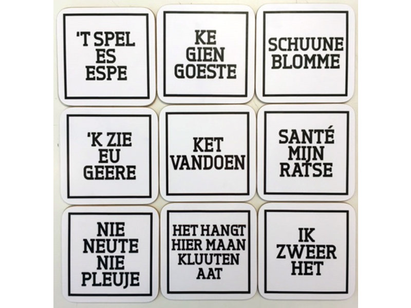Urban Merch Coasters 'Ghent Dialect' ( set of 4 )