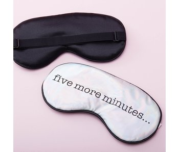 Sleep Mask 'Five More Minutes'