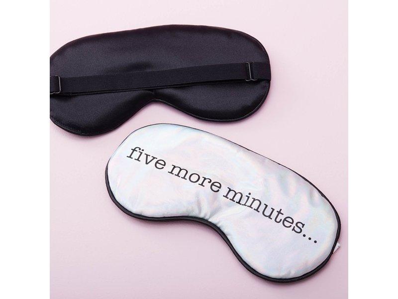 Kikkerland Slaapmasker 'Five More Minutes'
