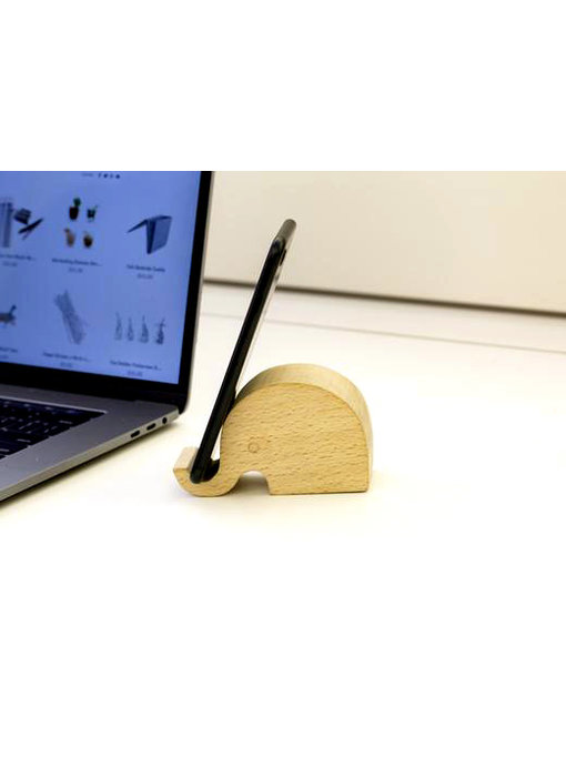 Wooden Phone Stand 'Elephant'