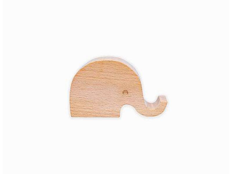 Kikkerland Support Téléphone en bois 'Elephant'
