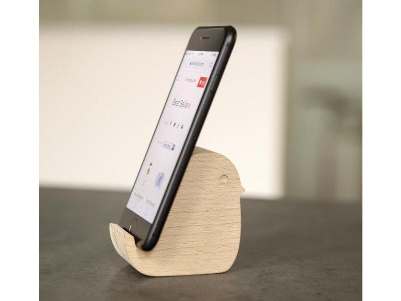 Kikkerland Wooden Phone Stand 'Bird'