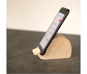 Support Téléphone en bois 'Baleine'