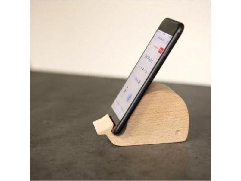 Kikkerland Support Téléphone en bois 'Baleine'