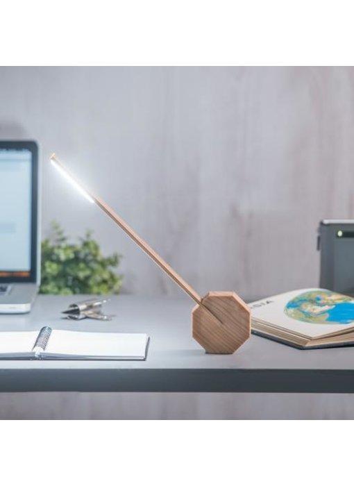 Bureaulamp 'Octagon One' (esdoorn)