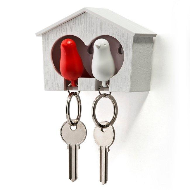 Qualy Schlüsselanhänger mit 2 Schlüsselringen 'Spatz'