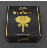Luckies Sleutelhouder Olifant 'Never Forget'