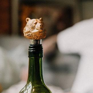 Luckies Wine Bottle Stopper 'Bear'