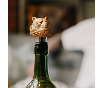 Wine Bottle Stopper 'Bear'