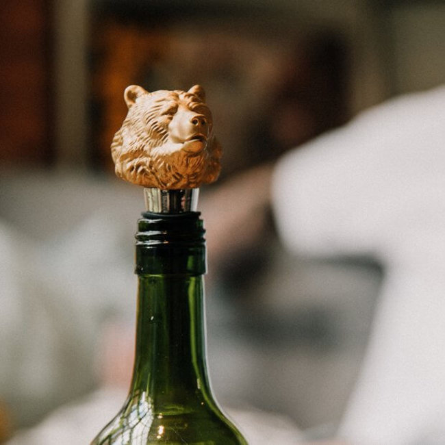 Luckies Wine Bottle Stopper 'Bear'