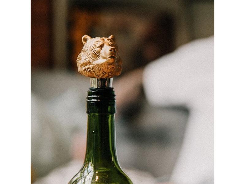 Luckies Bouchon de Bouteille de Vin 'Ours'
