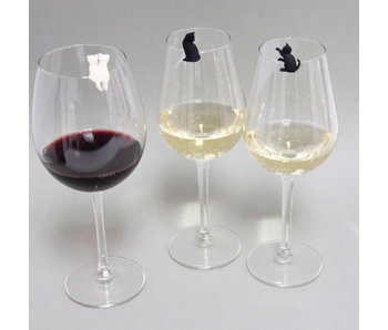 Wine Glass Markers 'Meow Cat'
