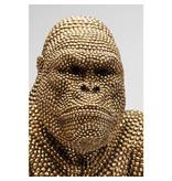 Karé Design Statue Déco 'Singe Gorille Bulle d'Or' (XL)
