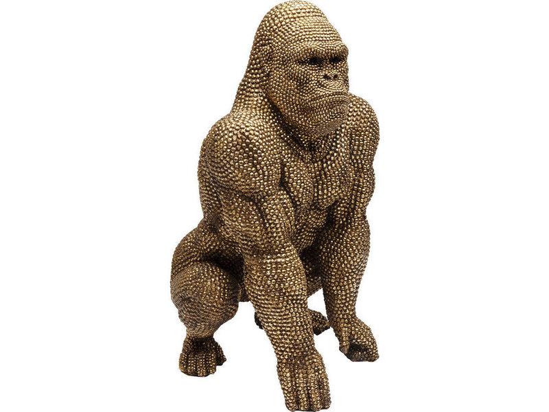 Karé Design Deco Statue 'Golden Bubble Gorilla Monkey' (XL)