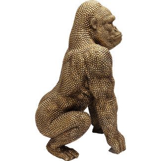 Karé Design Deco Statue 'Golden Bubble Gorilla Monkey' (XL)