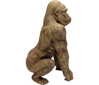 Deco Beeld 'Gouden Bubble Gorilla Aap' (XL)