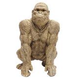 Karé Design Statue Déco Singe Gorille Bulle d'Or  - 46 cm