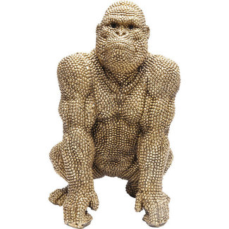 Karé Design Deco Statue Golden Bubble Gorilla Monkey  - 46 cm
